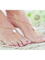 shixin® classique en alliage de perles sandales nu-pieds (or, argent) (1 pc)