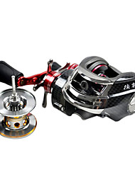 DYNAMIC Left Handle 10+1 Ball Bearing Black Casting Reel (Extra Line Cup)