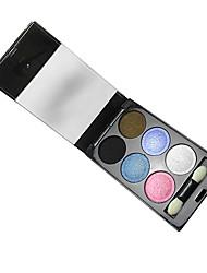 6 Eyeshadow Palette Wet Eyeshadow palette Powder Normal