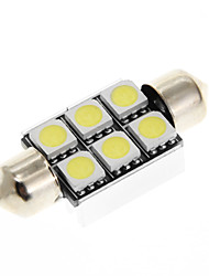 6 SMD 5050 OBC Error Canbus Festoon Dome Car LED w/ Heat Sink 12V