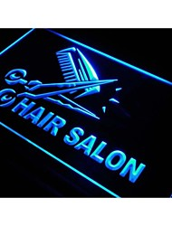 Hair Salon Cut Scissor Display Neon Light Sign