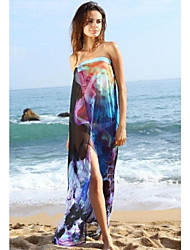 Donna stampa floreale chiffon Beach Cover-up