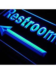 toilettes flèche signe WC café bar néon de lumière