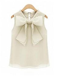 Women's Elegant Organza Bow Blouse