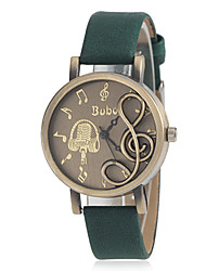 Women's Musical Note Shape Round Dial PU Band Quartz Analog Fashion Watch (Assorted Color) Cool Watches Unique Watches