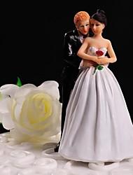 Decorações de Bolo Não-personalizado Casal Clássico Resina Casamento Flôr Branco / Preto Tema Floral / Tema Clássico Caixa Oferta