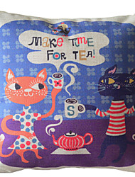 Relaxe e aproveite sua Tea Time decorativa fronha