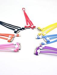 30 broches à 8 broches 3-en-un et Micro USB Data Flat câble de recharge pour iPhone4/4S/5S/5C (20cm)