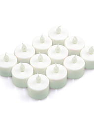 12pack Indoor LED Battery Operated Tea Lights (cis-57186)