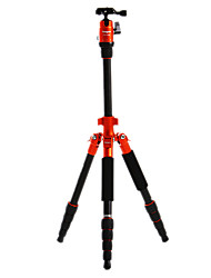 Fotopro X4i-E Recorrido al aire libre de aluminio-magnesio aleación telescópico Trípode para cámara réflex digital (naranja)