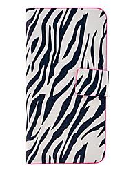 padrão de zebra-stripe corpo inteiro TPU caso de couro para iphone 5c