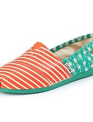 MOSO Nuevo 2014 Primavera Verano estilo coreano del patrón de las mujeres de bandera de Usa Stripes Canvas Shoes Casual