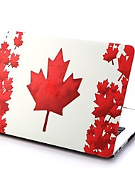 Red Maple Leaf Patterns Folio Plastic Protective Hard Shell Case for Macbook Air 11.6''