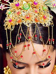 élégante coiffe d'or chinois pour les mariages