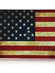 Retro USA Flag Patterns Patterns Folio Plastic Protective Hard Shell Case for Macbook Pro 13""