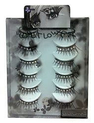 6 pairscoolflower false eyelashes with diamond 046#