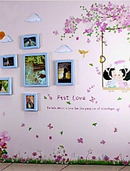 Blue Photo Frame Set of 6 with Wall Sticker