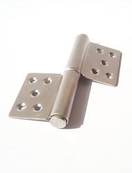 135 milímetros × 100 milímetros em aço inoxidável escovado em forma de bandeira da dobradiça da porta
