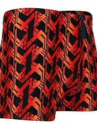 Moda Masculina Curve Stripes Plana Ângulo Swim Shorts