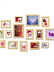 Natural Color Photo Frame Collection Set of 15