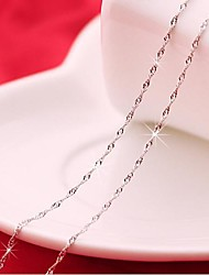 Water Wave Pattern Silver Plated Necklace(1pc)