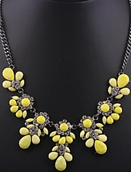 Women's Fashion Fluorescent Citrine Gemstone Necklace