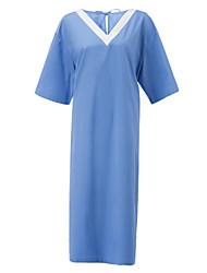 Медицинская равномерное V-образным вырезом шнурок твил Операционная платье