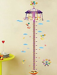 Createforlife® Cartoon Carousel Height Chart Kids Nursery Room Wall Sticker Wall Art Decals