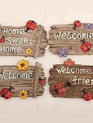 Welcome Card Fridge Magnets Set Of 4