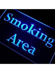 zona de fumadores signo luz de neón zona