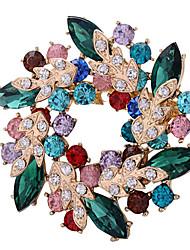 J & G Vrouwen Kleuren bloemvorm broche