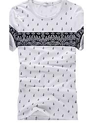 Casual Floral Europeu camiseta impressão de Sameul Homens