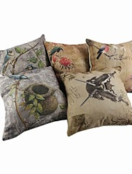 Cotton / Linen Pillow Cover / Pillow With Insert , Novelty Casual / Traditional/Classic / Outdoor / Antique / Retro / Accent/Decorative
