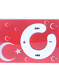 C Bouton Moon and Stars Motif clip Lecteur MP3 avec lecteur de carte TF
