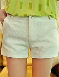 Women's White/Black Shorts Pants , Casual/Party
