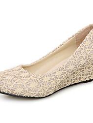 Damen Keilabsatz Wedges Pumps Schuhe (mehr Farbe)