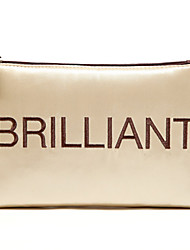 Quadrate Cloth Luxurious Golden Brilliant Letter Clutch Cosmetic Bag Makeup Storage Bag
