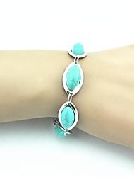 Antique Turquoise Bracelet Vintage 18cm femmes (Vert) (1 PC)