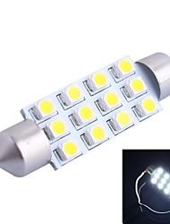 42mm 3W 150LM 6000K 12x3528 SMD White LED for Car Reading/License Plate/Door Lamp (DC12V, 1Pcs)