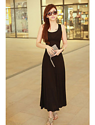 Dsl coreano malha Beach Dress (preto)
