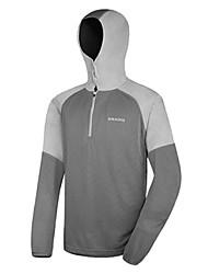 AMADIS gris_claro poliéster manga larga Anti-UV Pesca con capucha