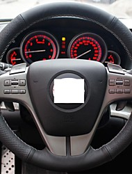 XuJi ™ Black Genuine Leather Steering Wheel Cover for Mazda 6