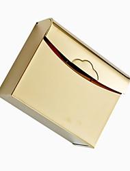-Chapeamento de ouro grosso de aço inoxidável à prova d'água WC Box Tissue