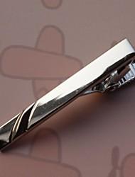 3,9 centímetros do vintage dos homens Clipes laço (prata) (1pc)