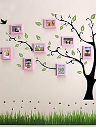 Pink Photo Frame Set of 10 with Wall Sticker