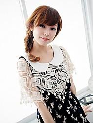 New Summer vivi Japanese Crochet Lace Design Geometric Patterns Knitted Sweater