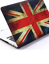 """Retro Patrones de la bandera del Reino Unido Folio Carcasa protectora dura plástica para MacBook Air 13 """""""