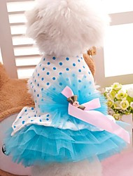 Lovely Teddy Style Summer Wedding Dress with Butterfly for Pets Dogs (Assorted Size,Assorted Color)
