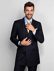 estándar de poliéster de color azul oscuro en forma traje de dos piezas