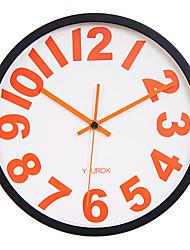 "11.8 ""Cadre Noir Rouge Figure Gras Horloge murale Muet"